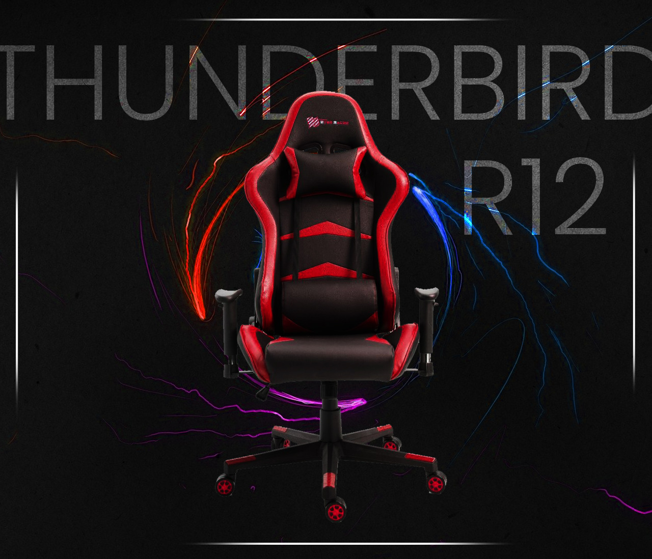 New EverRacer Gaming Office Chair PU Leather Black & Red