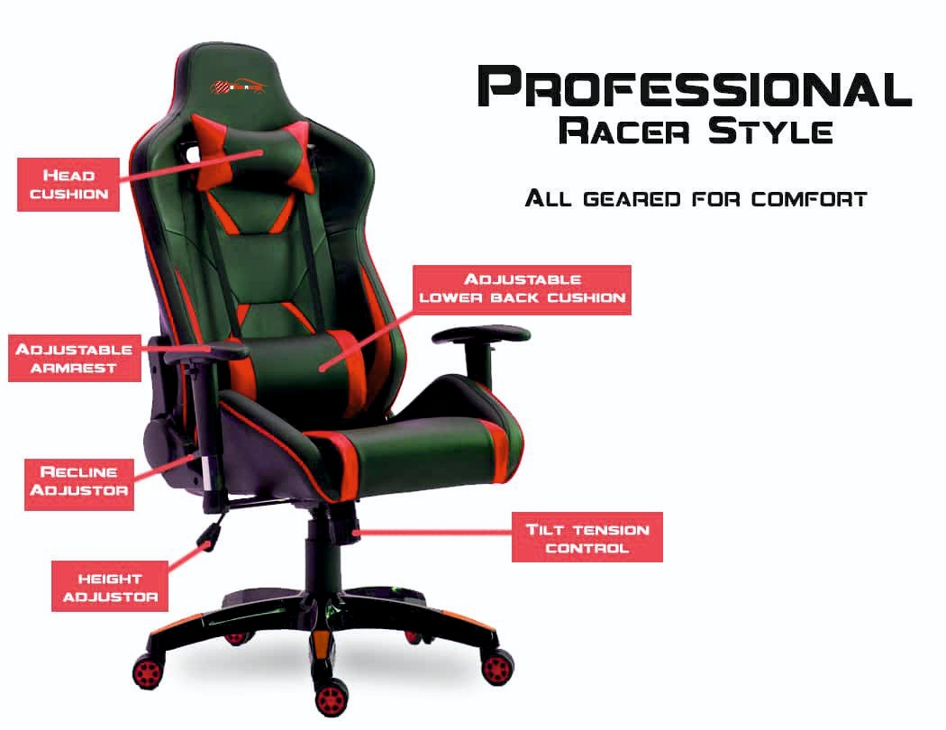 New EverRacer Bigger & Stronger Black and Red