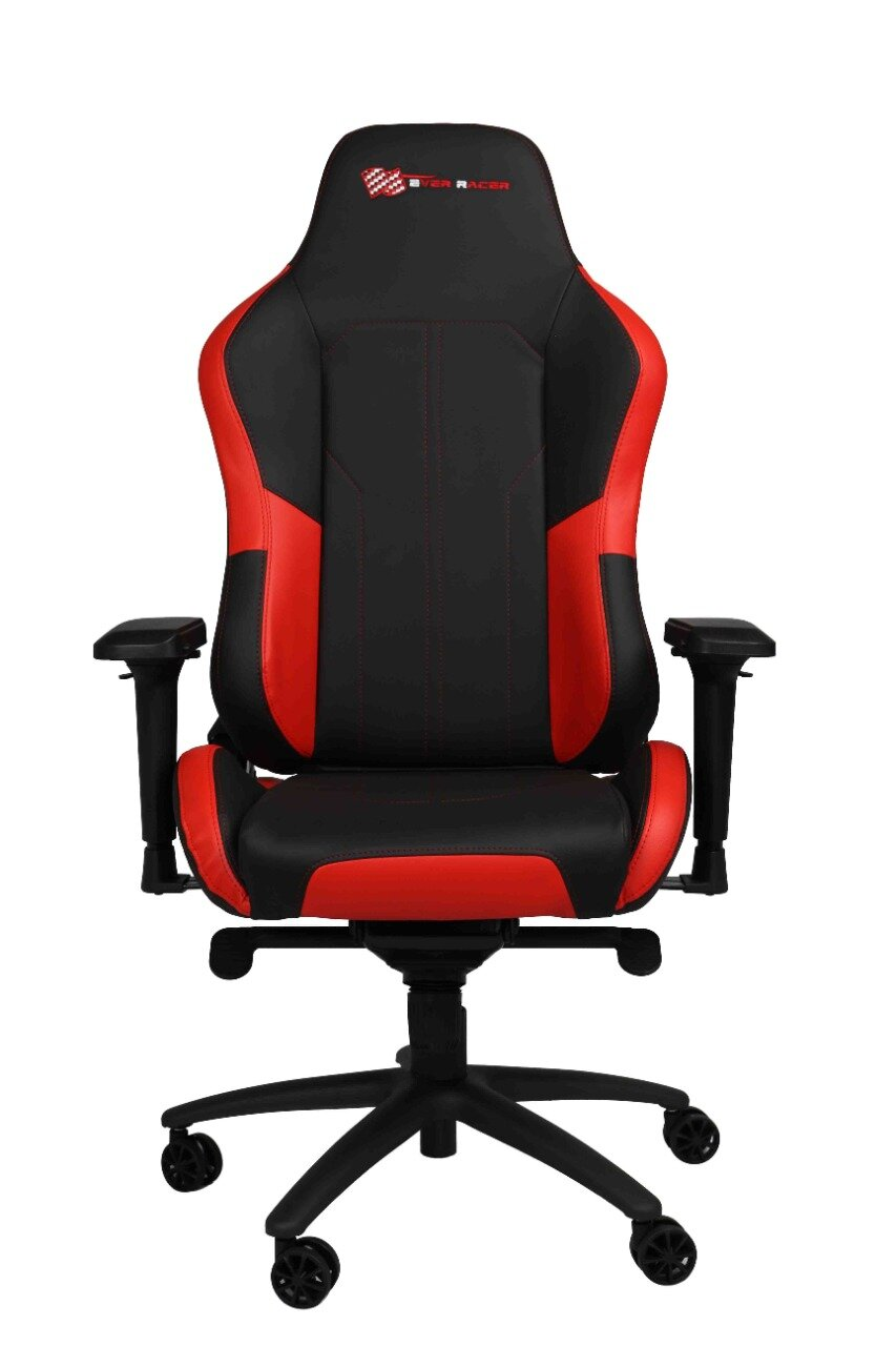 EverRacer Red & Black Gaming & Office Executive Chair with Armrests