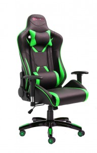PU Leather Reclining Office Desk Gaming Executive Chair - Green