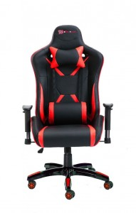 PU Leather Reclining Office Desk Gaming Executive Chair - Red