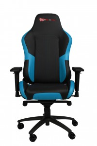 EverRacer Blue & Black Gaming & Executive Office Chair with Lumbar Support